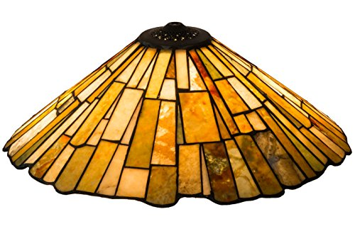 Meyda Home Decorative Art Stained Glass Lamp Fixture21W Delta Jadestone Replacement Shade