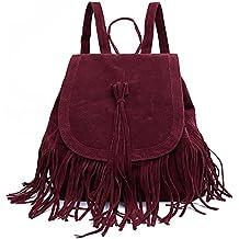 LUI SUI- Valentine's Day Gift Women's Fringed Backpack Tassel Shoulder Bag …