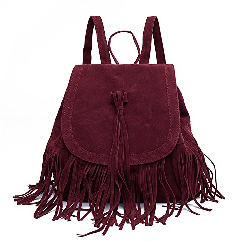 LUI SUI- Valentine's Day Gift Women's Fringed Backpack Tassel Shoulder Bag by LUI SUI