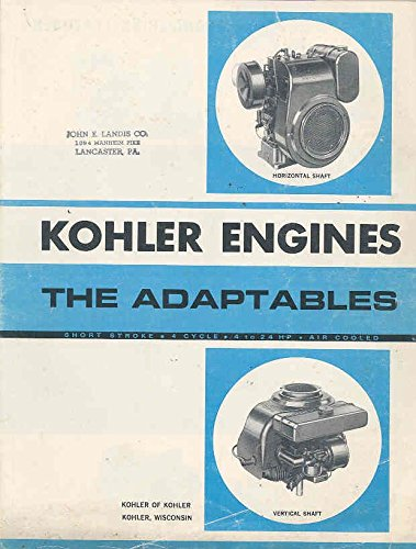 Used, 1968 Kohler 4 Through 24 HP Engine Brochure for sale  Delivered anywhere in USA