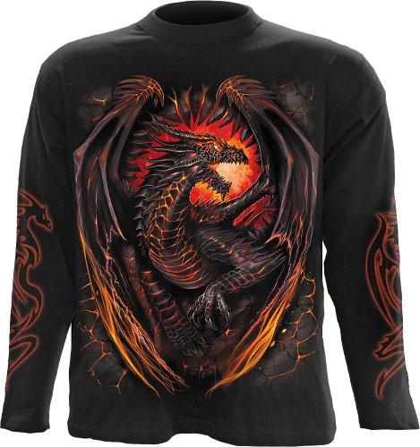 Spiral - Mens - DRAGON FURNACE - Longsleeve T-Shirt Black - L (Black Shirt Ops)