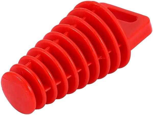 Exhaust Plug Qiilu Wasch Stopfen Gummi Motorrad Schalldämpfer Stecker Rot 98mm Für Die Meisten 2 Takt 4 Takt Motorrad Atv Quad Auto