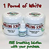 Amazing Sculpt 1 lb White 2-Part Modeling Clay for Sculptors. USA Made.
