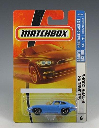 - Matchbox 2007, '61 Jaguar E-Type Coupe Light Blue Heritage Classics 1:64 Scale 8/9 (Comes in a protective box)