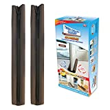 Twin Draft Guard Extreme in Brown - Set of 2 - Energy Saving Under Door Draft Stopper