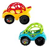 Bright Starts Oball Rattle and Roll Toy Car, 1 Car Assorted Colors.