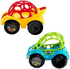 O Ball 1 Piece Rattle Roll Car Assorted Colors