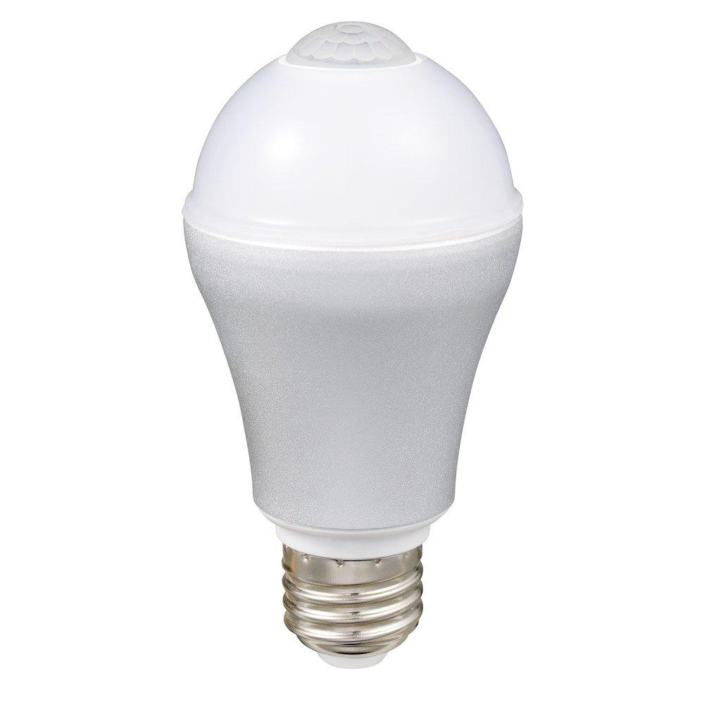 ルミナス LED電球 自動点灯 人感センサー付き 電球色 直下重視タイプ 40W相当 502lm 口金E26 LVA40L-HS