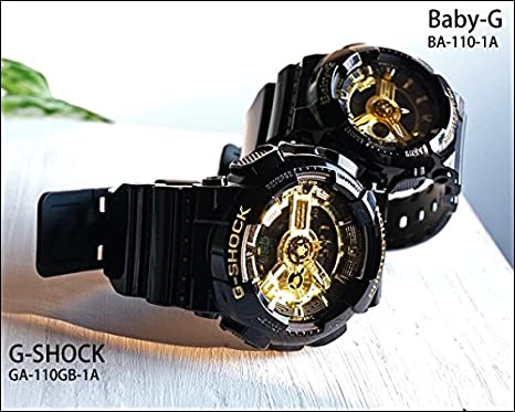 da6aa19924 Amazon | 【P3】カシオ/CASIO G-SHOCK/Gショック Baby-G/ベビーG  【GA-110GB-1A/メンズ(1)】【BA-110-1A/レディース(78)】 腕時計 時計 【ペアウォッチ】【2本でこの ...