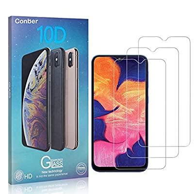 Conber Screen Protector for Samsung Galaxy A10, (3 Pack) 9H Tempered Glass Film Screen Protector for Samsung Galaxy A10 [Shatterproof][Scratch-Resistant]: Baby