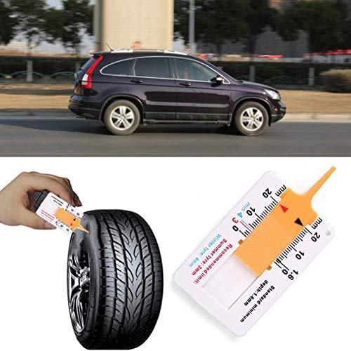 fghdf Misurare Strumento di Pneumatici di profondit/à di Impronta del Calibro di profondit/à di Impronta Strumento di misuratore per Car Wheel