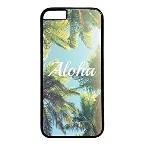Palm Tree Background Aloha Theme Case Cover For SamSung Galaxy S4 Mini PC Material Black