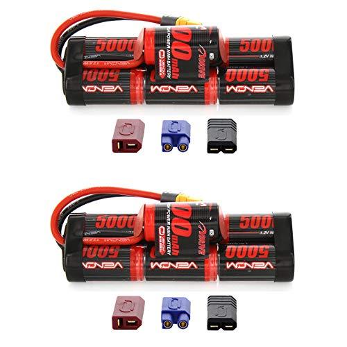 (Venom 8.4V 5000mAh 7-Cell Hump NiMH Battery with Universal Plug (EC3/Deans/Traxxas/Tamiya) x2 Packs)