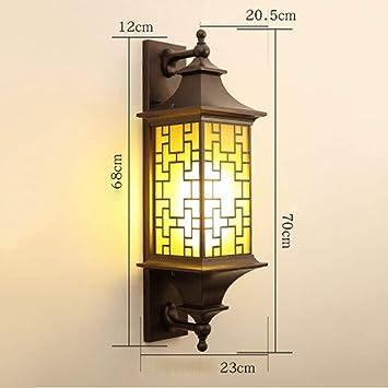 Linterna de Pared Lámpara de Jardín Lámpara de Pared Lámpara de Pared Lámparas de Exterior Lámparas