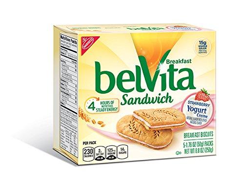 Belvita Breakfast Sandwich, Strawberry Yogurt Crème, 8.8 Ounce (Pack of 6)
