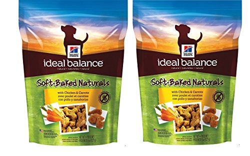 Baked Treats - HILL'S 2-Pack Ideal Balance Soft-Baked Naturals with Chicken & Carrots Natural Soft Dog Treats