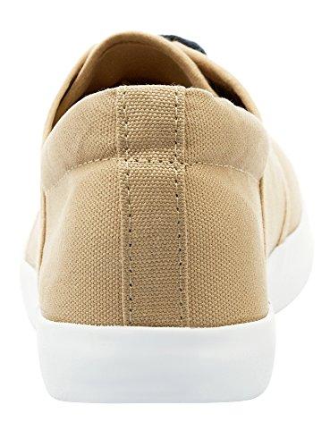 Beige Suola Tela Uomo Ultra di 3510b Sottile oodji Sneakers con wY8HxB