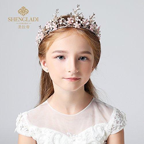 XPY DGX Accessori Per Capelli Da Sposa E Da Sposa I bambini della corona di  ragazze Tiara Princess Crown Diamond Aisha corona compleanno accessori  gioielli ... 2d19bf051910