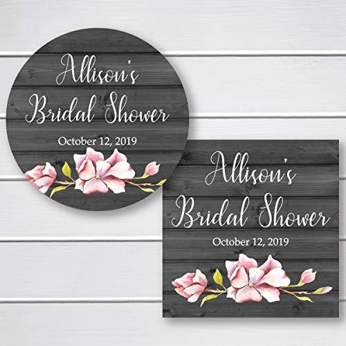 Floral Bridal Shower/Event/Celebration Favor Stickers (#624-T005)