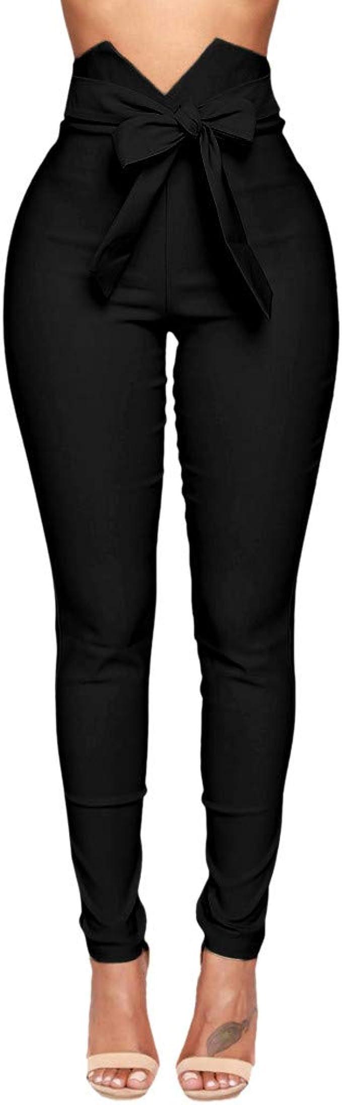 Pantalón mujer alta cintura Trousers moda Salopette pantalón ...