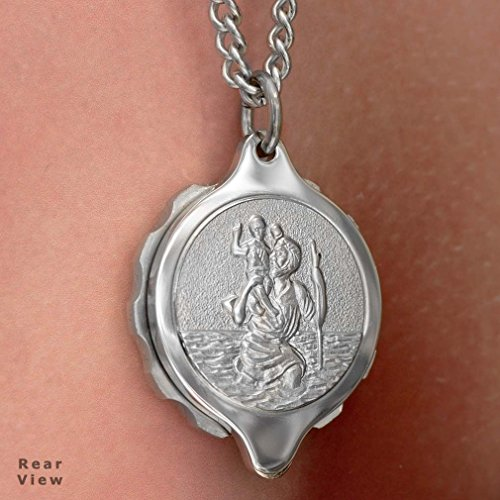 SOS Talisman ST20a St Christopher Medical ID Alert Pendant (Necklace) Stainless Steel. vpuc0IhhiE