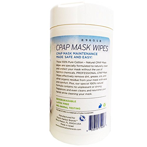 CPAP Wipes by AWOW Professional | 372 CPAP Unscented Cotton Mask Cleaning Wipes, 6 Canisters of 62 Wipes by A World of Wipes Professional (Image #2)