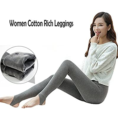 Osave Women Fleece Lined Winter Cotton Rich Leggings Thickend Thermal Leggings For Ladies