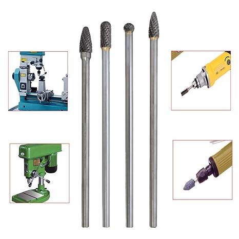 Wenje Long Reach Rotary Burr Double Cut Tungsten Carbide Bit 4pcs 150-160mm