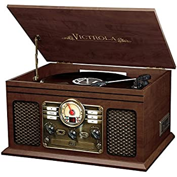 Marvelous Victrola Nostalgic Classic Wood 6 In 1 Bluetooth Turntable Entertainment  Center, Espresso