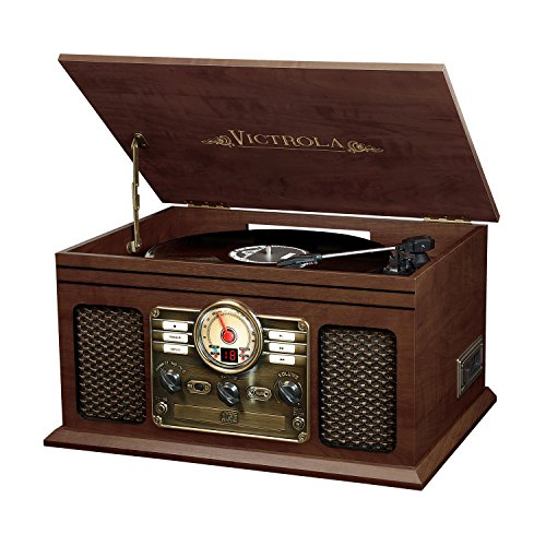 Victrola Nostalgic Classic Wood 6 In 1 Bluetooth Turntable