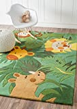 nuLOOM Kids 5′ x 7′ Green Hand Tufted Area Rug Review