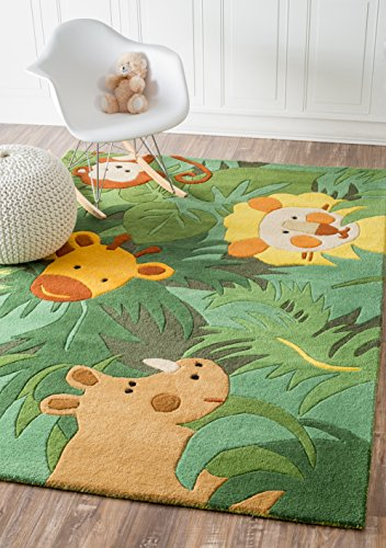 (nuLOOM King Of The Of The Jungle Wool Rug, 3' 6