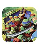 American Greetings Teenage Mutant Ninja Turtles 9 in Square Plate, Pack of 8, Party Supplies