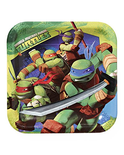 American Greetings Teenage Mutant Ninja Turtles Paper Dinner Plates, 8-Count -