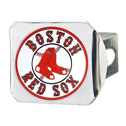 FANMATS MLB - Boston Red Sox Color Hitch - Chrome