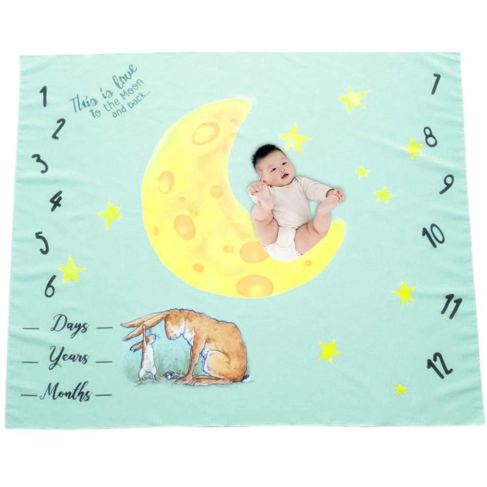 Baby Milestone coperta fotografia puntelli sfondo foto Prop a traccia la crescita del bambino infantile del pannolino di mese per fotografia della mamma Baby Shower Gifts