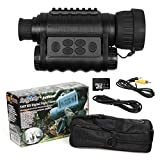 Bestguarder WG-50 6x50mm Digital Night Vision Infrared IR Monocular with 32G Memory and Camera & Camcorder Function Takes 5mp Photo & 720p Video from 1300ft Distance for Night Hunting or Viewing