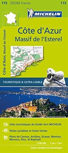 Michelin Map No. 115 Cote d'Azur Alpes Maritimes (French Riviera, France), Scale 1:100,000 (French Edition) (Multilingual Edition) (Map Of The Cote D Azur France)
