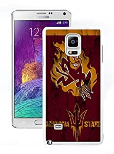 New Unique DIY Antiskid Skin Case For Samsung Note 4 Arizona State Sun Devils Samsung Galaxy Note 4 White Phone Case 014