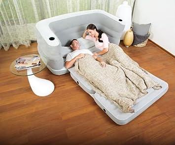 Sofá cama hinchable para casa y jardín, tamaño 200 x 160 x 64 (h ...