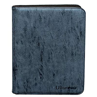 Ultra Pro Suede 9-Pocket PRO-Binder w/Zipper (Sapphire Blue): Sports & Outdoors
