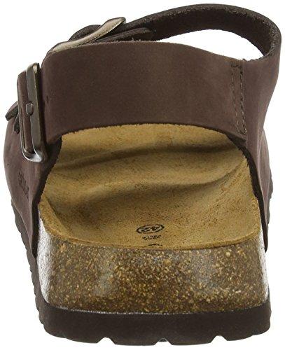 Grunland Men's Bobo Ankle Strap Sandals Brown (Testa Di Moro Temo) nHK9g