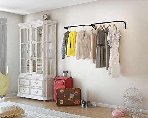 Clothes Bar Adjustable Width Multi Purpose Wall Hanging