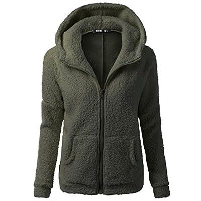 AmyDong Women's Warm Sweatshirt, Hooded Sweater Winter Wool Zipper Coat Outwear Pullover Jacket
