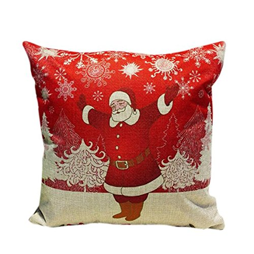 Nation Pillow Case Clearance ♥ Xmas Christmas Sofa Bed Home Decoration Festival Cushion Cover (P) (Christmas Jumper Decorations)