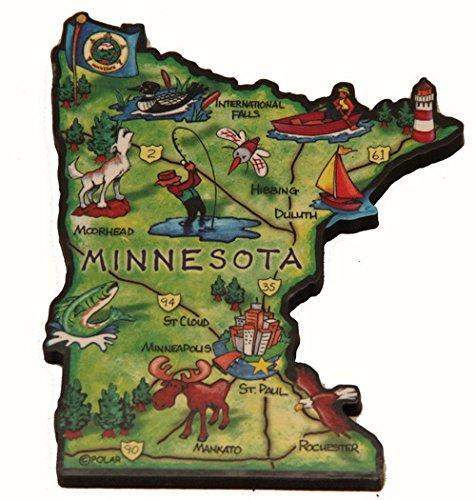 Minnesota State Decowood Jumbo Wood Fridge Magnet 4