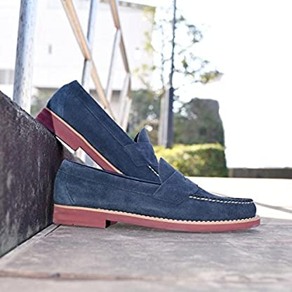 Logan Brick Sole 115-03-0396: Navy