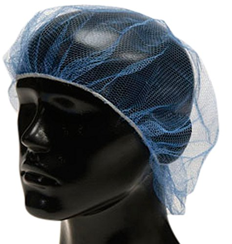Liberty A1924 Soft Nylon Hairnet with 1/8'' Honeycomb Pattern Holes, 24'' Diameter, Blue (Case of 1000) by Liberty Glove & Safety