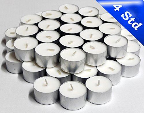 600 Premium -Teelichter im Alubecher, Brenndauer 4 Stunden, Weiß, mit Gütezeichen