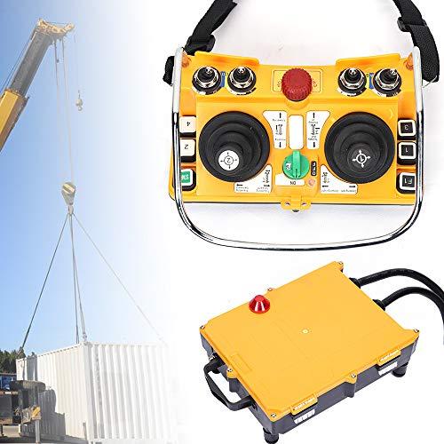 Industrial Wireless Remote Control Transmitter & Receiver, F24-60 24V Wireless Joystick Crane Rocker Remote Control Transmitter Receiver, 100m Control Range for Bridge Overhead Crane/Chain Hoist